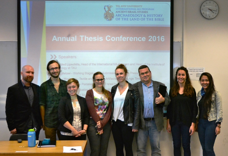 The Second Annual Thesis Conference of the International MA Program in Archaeology and History of the Land of the Bible