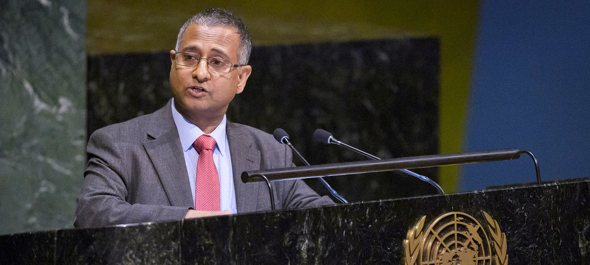 UN Photo/Manuel Elias Ahmed Shaheed, Special Rapporteur on Freedom of Religion or Belief addresses the UN General Assembly