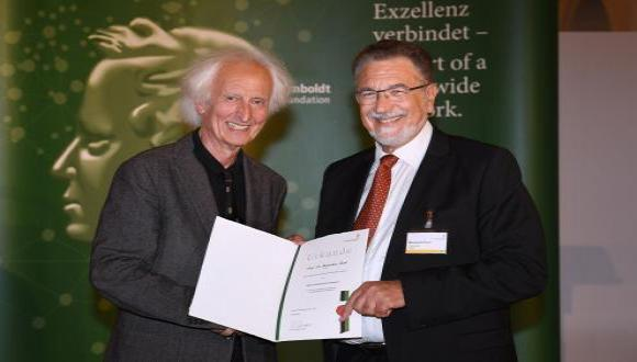 Congratulations to Menachem Fisch for being awarded an honorary doctorate and for winning the Humboldt Research Award.